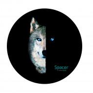 Covor pentru scaun gaming SPACER, protectie parchet, cauciuc si material textil, 1200 x 3mm, rotund, Wolf