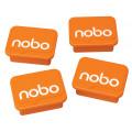 MAGNETI NOBO, pentru table, portocaliu, 4buc/set,