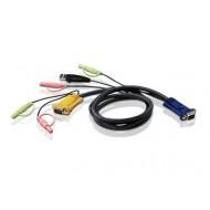 CABLU KVM ATEN convertor Serial- video+ USB, conector tip SPHD-15 (T)   3.5 mm Jack (T) x 2,