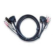 CABLU KVM ATEN cablu 3 in 1, conector tip USB (T)   3.5 mm Jack (T) x 2   DVI-D (T),