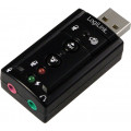 PLACA de SUNET Logilink, extern, 7.1, interfata USB 2.0, conectori 3.5 mm jack,