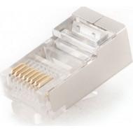 MUFA RJ-45  pt. cablu FTP, SFTP, Cat5e, RJ-45 (T), ecranat, plastic cu metal, 10 buc,