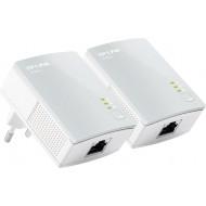 KIT ADAPTOR POWERLINE TP-LINK tehnologie AV,  AV600, pana la 600Mbps, 1 port 10/100Mbps, 2 buc.
