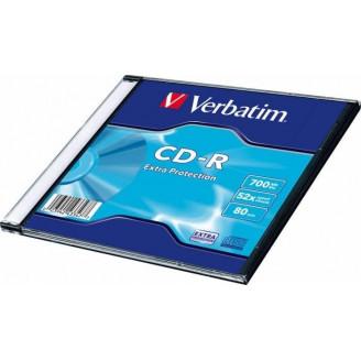 CD-R VERBATIM  700MB, 80min, viteza 52x,   1 buc, carcasa,