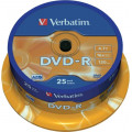 DVD-R VERBATIM  4.7GB, 120min, viteza 16x,  25 buc, Single Layer, spindle,