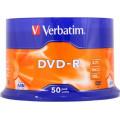 DVD-R VERBATIM  4.7GB, 120min, viteza 16x,  50 buc, Single Layer, spindle,