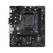 PLACA de BAZA Asrock  B550M-HDV, skt AM4, AMD B550, mATX, slot RAM 2 x DDR4, max 64 GB, 4x S-ATA 3, 1x M.2, 1x PCI-E, PCI-E4.0 x 16 x 2, PCI-E3.0 x 4 x 1, LAN 10/100/1000 Mbps, HDMI, DVI -D, VGA, 7.1,