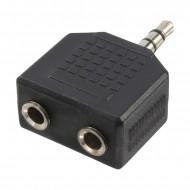 ADAPTOR audio LOGILINK 3.5mm stereo 3p. (t) la 2 x 3.5 stereo (m), Logilink