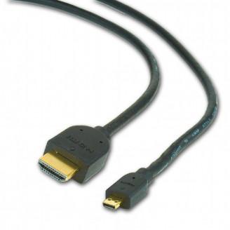 CABLU video GEMBIRD, adaptor HDMI (T) la Micro-HDMI (T), 3m, conectori auriti, negru,