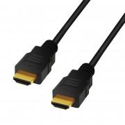 CABLU video LOGILINK, HDMI (T) la HDMI (T), 5m, conectori auriti, rezolutie maxima 8K (7680 x 4320) la 60 Hz, negru,