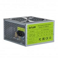 SURSA DELUX 550 (350W for 550W Desktop PC), Fan 12cm, Conector 20+4 pini, 2xSATA, 2xMolex, 1xSmall 4 pini,