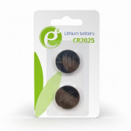 BATERIE GEMBIRD, butoni (CR2025), 3V litiu, 2 buc.,