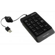 TASTATURA numerica A4TECH Fstyler, 18 taste, USB, 70cm retractabil, compact design, grey,