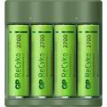 Incarcator GP Batteries, ReCyko compatibil NiMH (AA/AAA), include 4 x 2600 mAh AA (R6), wall charger, 2 LED-uri indicare incarcare,