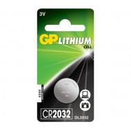 Baterie GP Batteries, butoni (CR2032) 3V lithium, blister 1 buc.