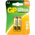 Baterie GP Batteries, Ultra Alcalina AA (LR6) 1.5V alcalina, blister 2 buc.