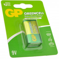 Baterie GP Batteries, Greencell (6LF22) 9V carbon zinc, blister 1 buc.