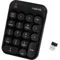 TASTATURA numerica  Logilink, wireless, 18 taste, negru,
