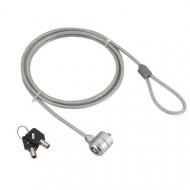 CABLU securitate GEMBIRD pt. notebook, slot standard, cheie standard, 1.8m, cablu otel,