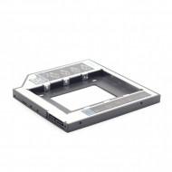 RACK intern  GEMBIRD, tip caddy 12.7mm, 5.25 inch la 2.5 inch, S-ATA, interfata PC S-ATA, metal, negru,