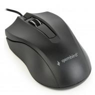 MOUSE GEMBIRD, PC sau NB, cu fir, USB, optic, 1000 dpi, butoane/scroll 3/1, , negru,