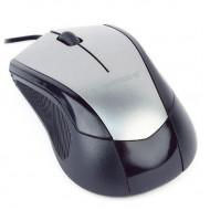MOUSE GEMBIRD, PC sau NB, cu fir, USB, optic, 1000 dpi, butoane/scroll 3/1, , negru / gri,