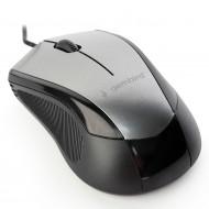 MOUSE GEMBIRD, PC sau NB, cu fir, USB, optic, 1600 dpi, butoane/scroll 6/1, , negru / gri,