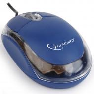 MOUSE GEMBIRD, PC sau NB, cu fir, USB, optic, 1000 dpi, butoane/scroll 3/1, , albastru,