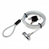 CABLU securitate LOGILINK pt. notebook, slot standard, 2 chei standard, 1.5m, cablu otel ultra-slim, permite pivotare si rotire cablu,