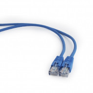 PATCH CORD  UTP GEMBIRD Cat5e,  cupru-aluminiu,   0.25 m, albastru, AWG26,