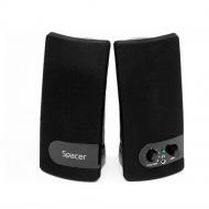 BOXE SPACER 2.0, RMS:  6W (2 x 3W), control volum, mufa casti, USB power, black,