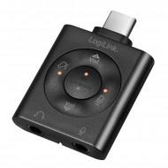 CONVERTOR audio LOGILINK, intrare: 1 x USB-C (T), iesire: 2 x 3.5