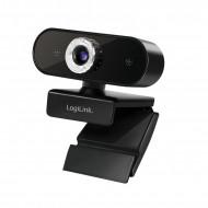 CAMERA WEB LOGILINK senzor. 1080p Full-HD cu rezolutie video 1920x1080; inclinare 30grade, rotatie 180grade, microfon, cablu 1.45m,