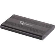 RACK extern GEMBIRD, pt HDD, 2.5 inch, S-ATA, interfata PC USB 2.0, aluminiu, negru,