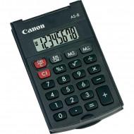 Calculator de birou CANON,AS-8, ecran 8 digiti, alimentare baterie, display LCD, negru, include TV 0.1 lei ,