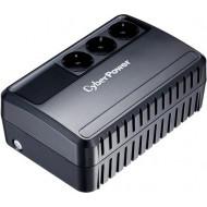 UPS CYBER POWER Line Int.  fara management,   650VA/ 360W, AVR, 3 x socket Schuko, indicatie status cu LED, 1 x baterie 12V/5Ah, Backup: 21 - 35 min, incarcare pana la 8h,
