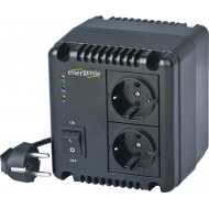 AVR GEMBIRD  1000VA/ 600W, 2 x socket Schuko, indicatie status cu LED, sinusoida pura,