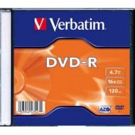 DVD-R VERBATIM  4.7GB, 120min, viteza 16x,   1 buc, Single Layer, carcasa,
