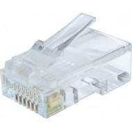 MUFA RJ-45 GEMBIRD pt. cablu UTP, Cat6, RJ-45 (T), plastic, 10 buc,