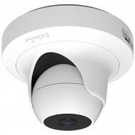 CAMERA IP. ENGENIUS, dome, pt. interior, dist. IR 20 m, tip lentila fixa 2.8 mm, 2 Mpx, cu fir, wi-fi, microfon, PoE, carcasa plastic, slot SD card,