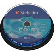 CD-R VERBATIM  700MB, 80min, viteza 52x,  10 buc, spindle,