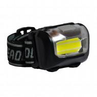 LANTERNA LED SPACER headlamp (3W COB)  high power/low power/strobe/off, battery:3 x AAA