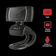 CAMERA WEB TRUST, HD 720 cu rez 1280 x 720, USB 2.0, microfon, negru,