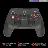 GAMEPAD wireless TRUST, PC | PS3, USB, negru,