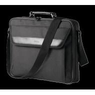 GEANTA & RUCSACURI TRUST, pt. notebook de max. 16 inch, 1 compartiment, buzunar frontal, poliester, negru,